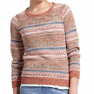 Sparrow Striped Shimmer Fairisle Pullover Sweater